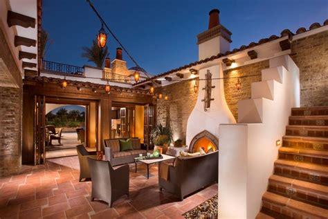 Santa Fe Style Home Plans by Beautiful Spanish Hacienda In La Quinta Ca Homes Of The