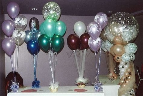 How To Make Air Balloon Table Decorations by Balloon Centerpiece Wedding Centerpiece Ideas