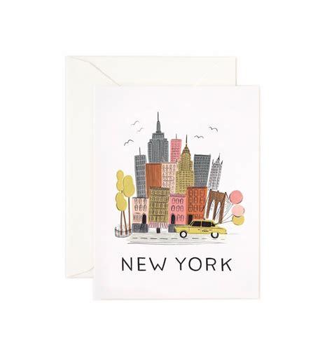 new york greeting card by rifle paper co made in usa