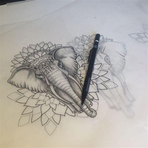 tattoo elephant vorlage les 25 meilleures id 233 es concernant tatouage 201 l 233 phant