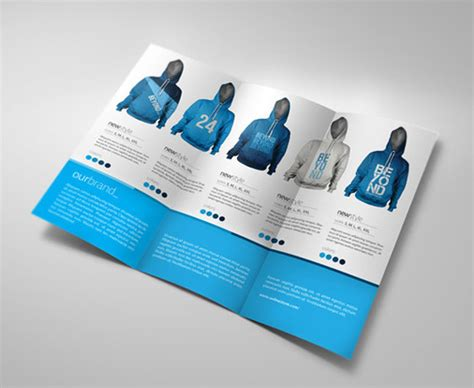 Tshirt A5 Best Product inspiring tri fold brochure design exles