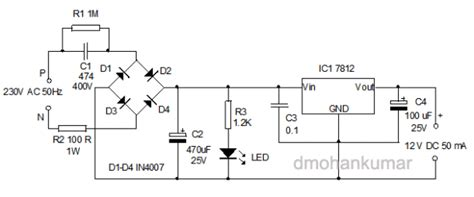 how capacitor works in power supply basic electronics 1a