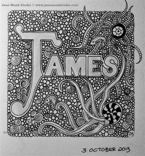 pattern for drawing around james draw a name and doodle around the outside to
