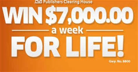 house of sweepstakes pch 7000 a week for life - Pch Drawing