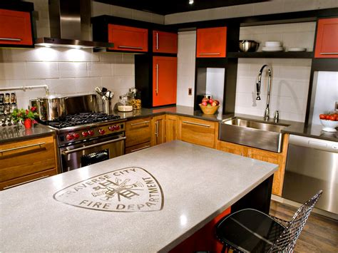 concrete kitchen design concrete kitchen countertops pictures ideas from hgtv