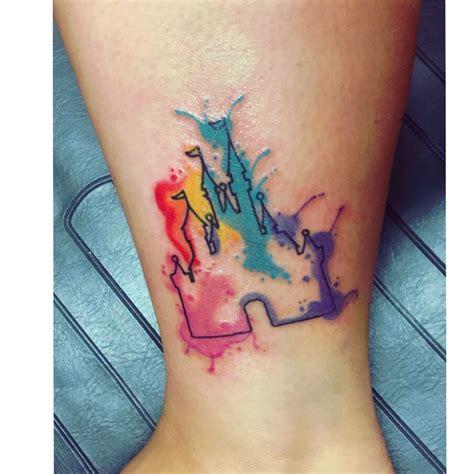 watercolor tattoo world disney world s cinderella castle watercolor