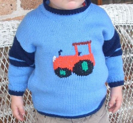knitting pattern tractor jumper knitted tractor jumper for jimmy knitting pinterest