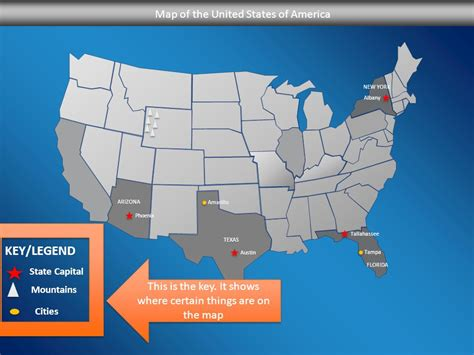 map of the united states with key created by ms lafranca ppt video online download