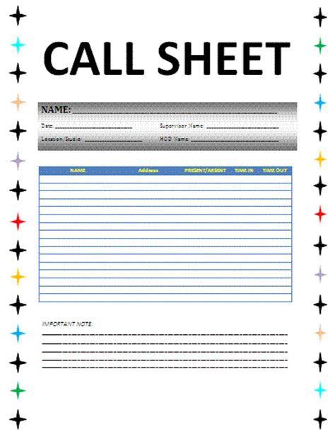 sales call plan template free call sheet template selimtd