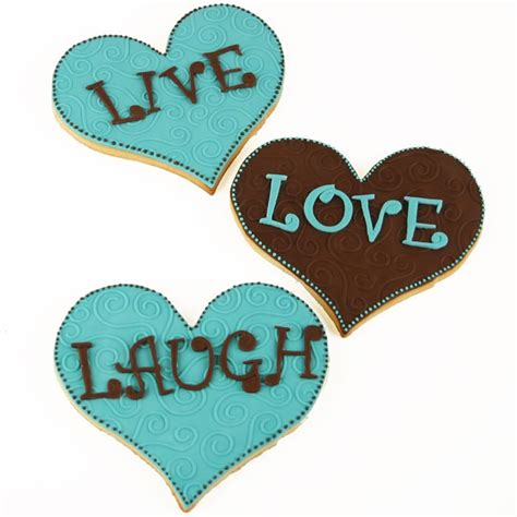 laugh live love valentine s day cookie decorating