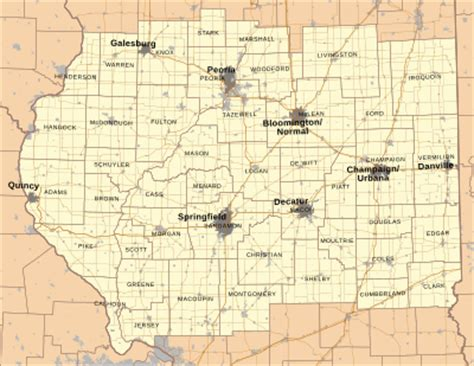 county map of central central illinois