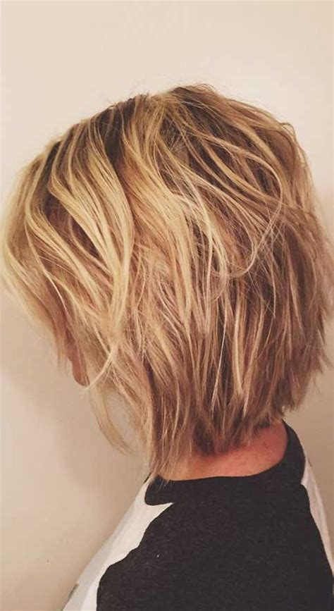 images of blonde layered haircuts from the back picture of short layered balayage blonde haircut