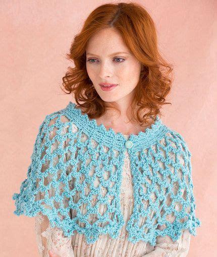 red heart yarn pattern lw2741 picot lace shawlette free crochet pattern in red heart