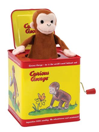 curious george jack in the box   schylling