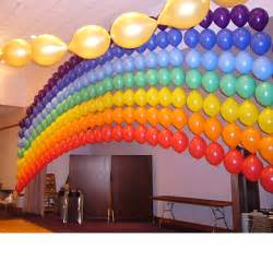 rainbow balloon wall might take a lot of time but i