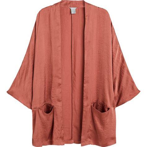 Outer Outwear Cardigan Kimono satin kimono jacket liked on polyvore featuring outerwear