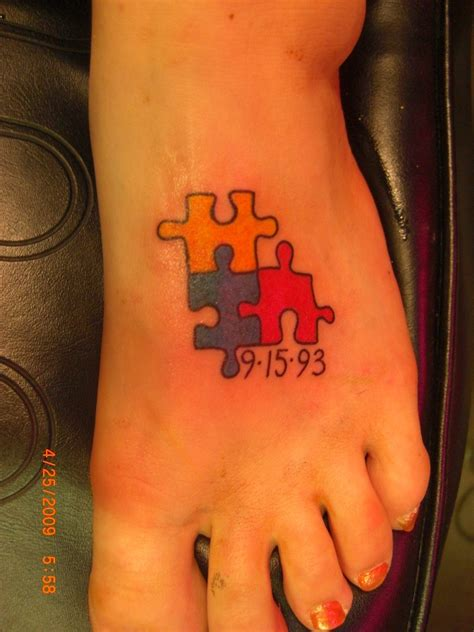 autism puzzle piece tattoo autism tattoos designs ideas and meaning tattoos for you