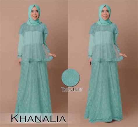 Baju Gamis Atas Brokat gamis pesta brokat khanalia b030 baju muslim modern
