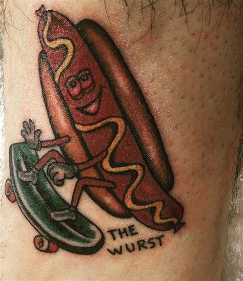 tattoo cartoon dog 21 hot dog tattoo designs ideas design trends
