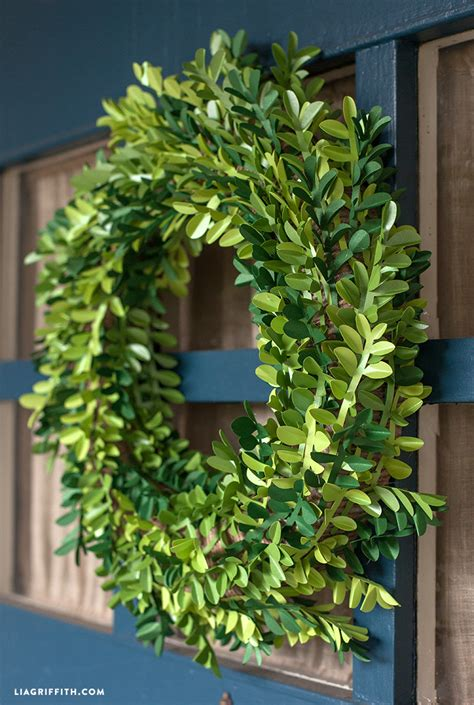 spring diy diy paper boxwood wreath for spring lia griffith
