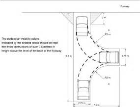 figure showing a typical layout for private drive turning facilities gardens pinterest