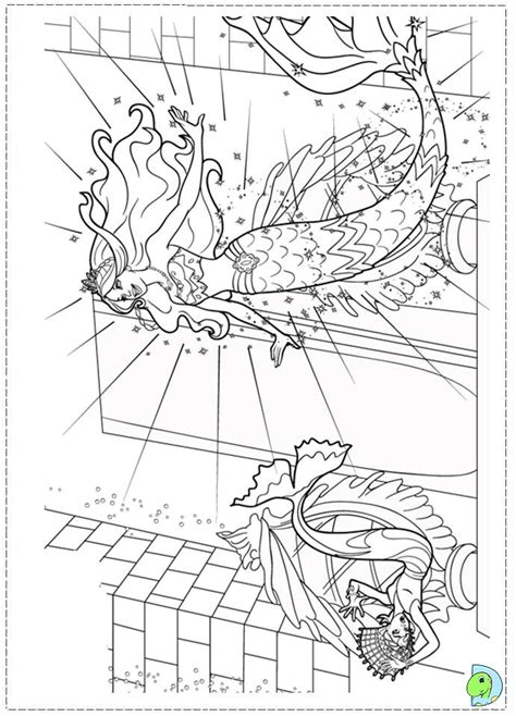 free coloring pages of a mermaid tail