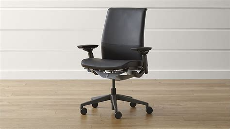 steelcase 174 think ebony leather office chair elmosoft