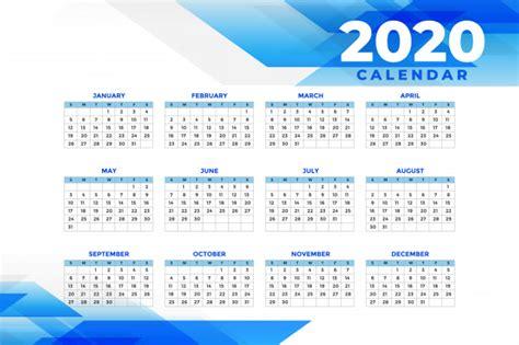 abstract blue  calendar template  vector