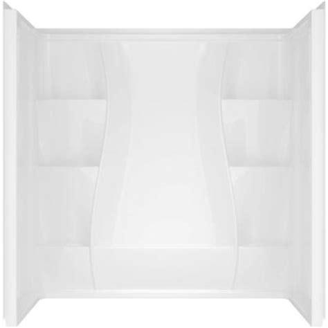 3 piece bathtub surround delta classic 400 curve 29 875 in x 59 88 in x 61 51 in