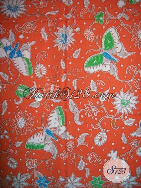 cari orange cari kain batik warna orange motif kupu kupu cantik