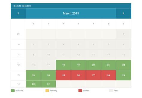 Availability Calendar Availability Calendar Script Multi User Calendar