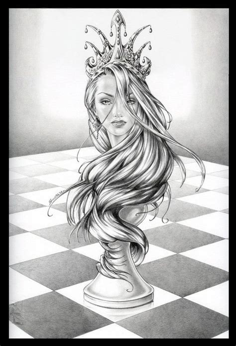 queen tattoo drawings queen chess piece drawings google search design