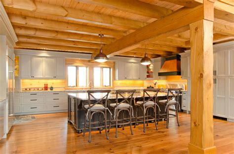 industrial home kitchen blue mountain on custom log home industrial kitchen