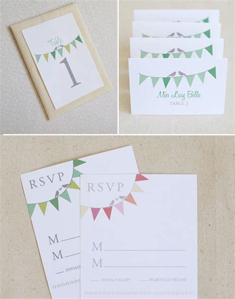 bunting wedding invitations diy bunting do it yourself wedding invitations
