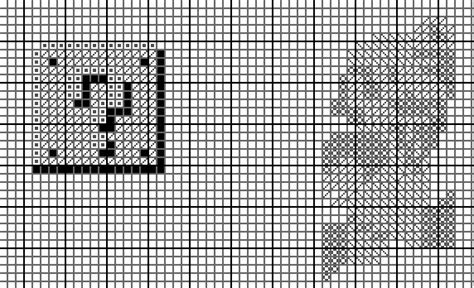 pattern replacement photoshop cross stitch pattern in photoshop with symbols