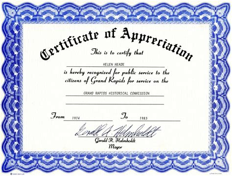 certificate of templates free certificate of recognition certificate templates