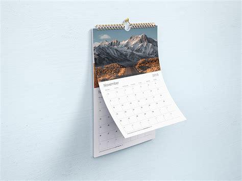 wall calendar mockup mockups design  premium mockups