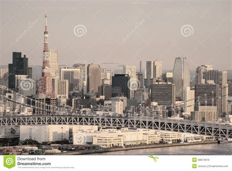 Seen At Tokio by Tokyo Skyline Royalty Free Stock Image Image 30874916