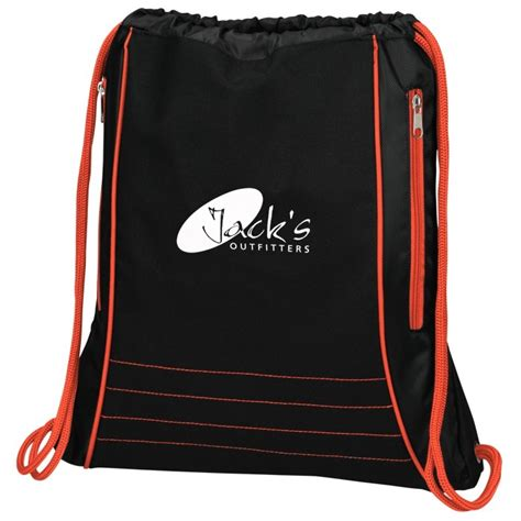 Custom Softcase Desain Logo Bank 17 4imprint neon deluxe drawstring sportpack 142501 imprinted with your logo
