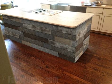 kitchen island panels reclaimed barn board paneling creative faux panels