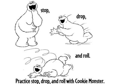 stop drop and roll coloring pages az coloring pages