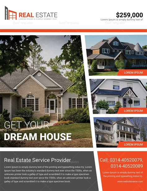 Dream Home Real Estate Flyer Design Template In Word Psd Publisher Real Estate Brochure Template Publisher