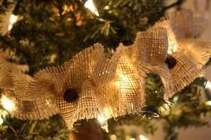 burlap on a tree burlap tree burlap ornaments garlands tree
