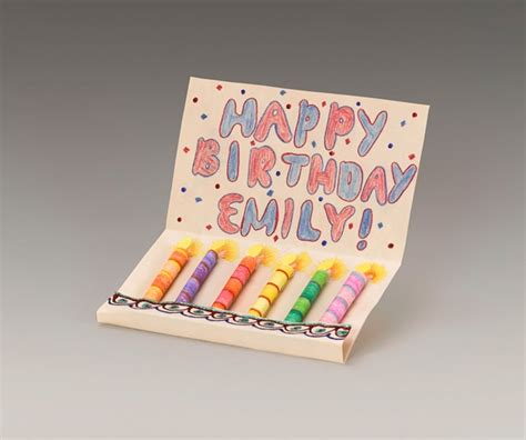 Paper Craft Birthday - dazzling birthday candle card craft crayola