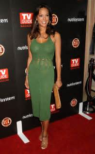 Eva larue showing her nice big tits in green see thru dress paparazzi