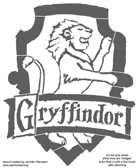 printable harry potter pumpkin stencils gryffindor crest coloring page coloring home
