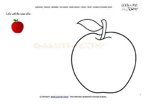 red apple coloring page exle coloring page red apple color picture of apple