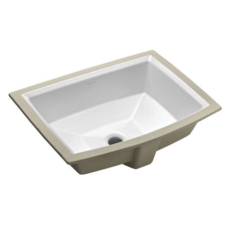 Undermount Bathroom Sink In White Kohler Archer Vitreous China Undermount Bathroom Sink With
