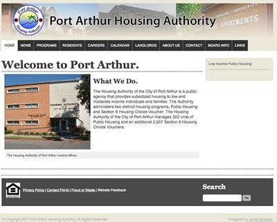 port arthur housing authority works
