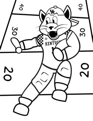 university  kentucky wildcat coloring page coloring pages